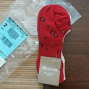 Madewell bandana daisy low profile socks 2 pair